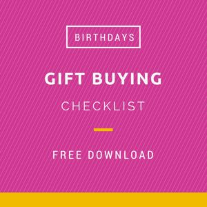 Gift buying checklists