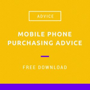Mobile phone purchasing advise