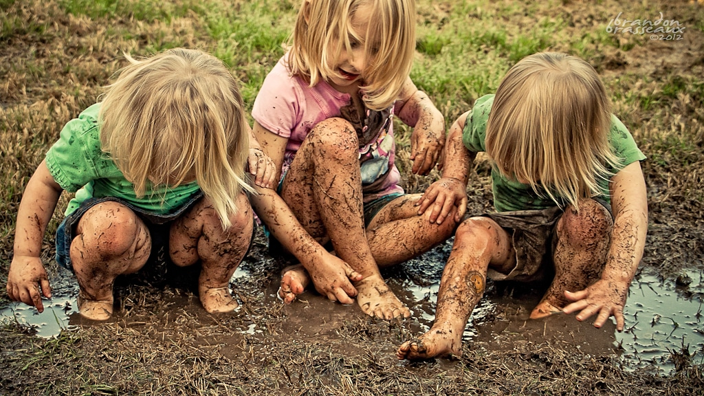 Image result for children playing in mud