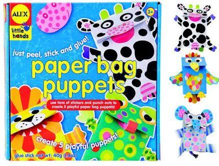 Paper Bag Puppets - Gift Idea