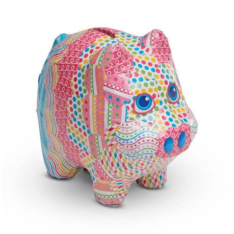 Decopage Piggy Bank - Kids Gift Ideas